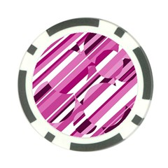 Magenta Pattern Poker Chip Card Guards by Valentinaart