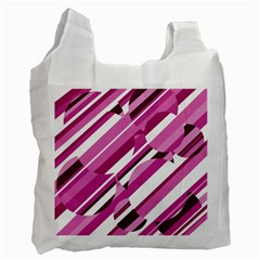 Magenta Pattern Recycle Bag (one Side) by Valentinaart