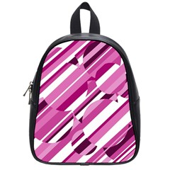 Magenta Pattern School Bags (small)