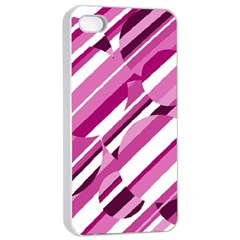 Magenta Pattern Apple Iphone 4/4s Seamless Case (white) by Valentinaart