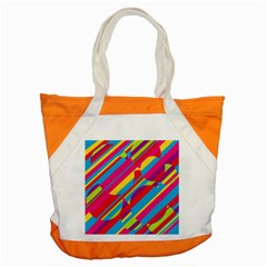 Colorful Summer Pattern Accent Tote Bag by Valentinaart
