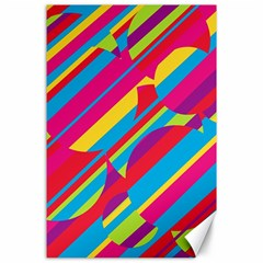 Colorful Summer Pattern Canvas 24  X 36