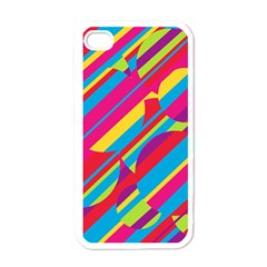 Colorful Summer Pattern Apple Iphone 4 Case (white) by Valentinaart