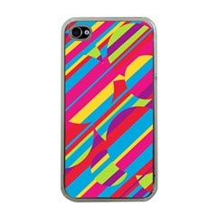Colorful Summer Pattern Apple Iphone 4 Case (clear) by Valentinaart