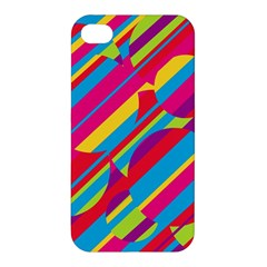 Colorful Summer Pattern Apple Iphone 4/4s Premium Hardshell Case by Valentinaart