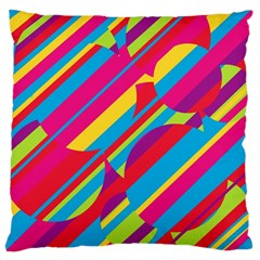 Colorful Summer Pattern Large Cushion Case (one Side) by Valentinaart