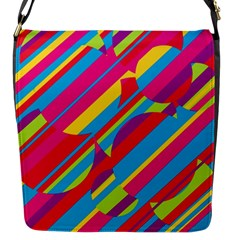 Colorful Summer Pattern Flap Messenger Bag (s) by Valentinaart