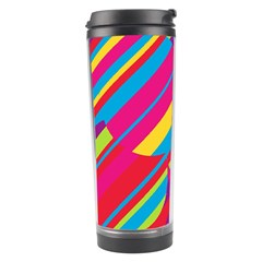 Colorful Summer Pattern Travel Tumbler by Valentinaart