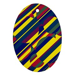Colorful Pattern Ornament (oval)  by Valentinaart