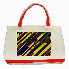 Colorful Pattern Classic Tote Bag (red)