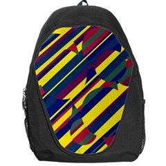 Colorful Pattern Backpack Bag by Valentinaart