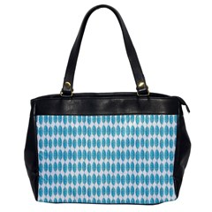 Blue Watercolour Leaf Pattern Office Handbags by TanyaDraws