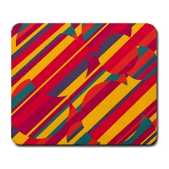 Colorful Hot Pattern Large Mousepads by Valentinaart