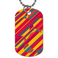 Colorful Hot Pattern Dog Tag (two Sides) by Valentinaart