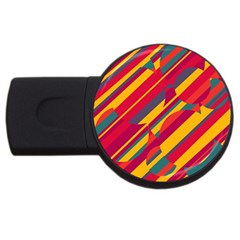 Colorful Hot Pattern Usb Flash Drive Round (4 Gb)