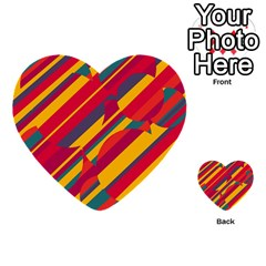 Colorful Hot Pattern Multi Purpose Cards (heart)  by Valentinaart