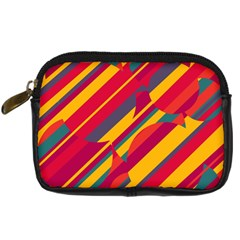 Colorful Hot Pattern Digital Camera Cases by Valentinaart