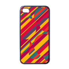 Colorful Hot Pattern Apple Iphone 4 Case (black) by Valentinaart