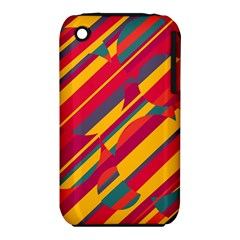 Colorful Hot Pattern Apple Iphone 3g/3gs Hardshell Case (pc+silicone) by Valentinaart