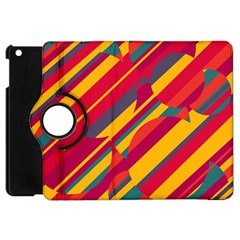 Colorful Hot Pattern Apple Ipad Mini Flip 360 Case by Valentinaart