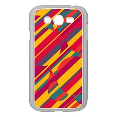 Colorful Hot Pattern Samsung Galaxy Grand Duos I9082 Case (white) by Valentinaart