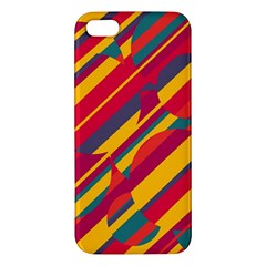 Colorful Hot Pattern Iphone 5s/ Se Premium Hardshell Case by Valentinaart