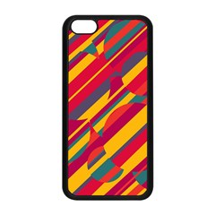 Colorful Hot Pattern Apple Iphone 5c Seamless Case (black) by Valentinaart