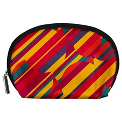 Colorful Hot Pattern Accessory Pouches (large)  by Valentinaart