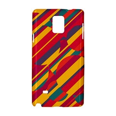 Colorful Hot Pattern Samsung Galaxy Note 4 Hardshell Case by Valentinaart