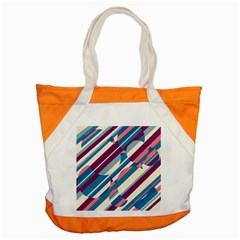 Blue And Pink Pattern Accent Tote Bag by Valentinaart