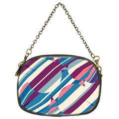 Blue And Pink Pattern Chain Purses (one Side)  by Valentinaart