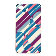 Blue And Pink Pattern Apple Iphone 4/4s Seamless Case (black) by Valentinaart