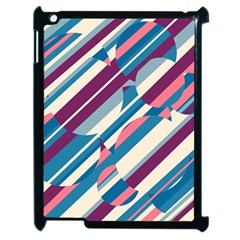 Blue And Pink Pattern Apple Ipad 2 Case (black) by Valentinaart