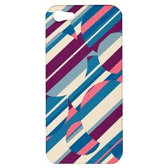 Blue And Pink Pattern Apple Iphone 5 Hardshell Case