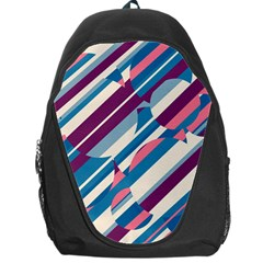 Blue And Pink Pattern Backpack Bag by Valentinaart