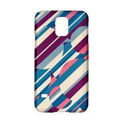 Blue And Pink Pattern Samsung Galaxy S5 Hardshell Case  by Valentinaart
