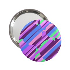 Pink, Purple And Green Pattern 2 25  Handbag Mirrors by Valentinaart