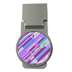 Pink, Purple And Green Pattern Money Clips (round)  by Valentinaart