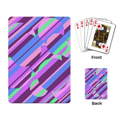 Pink, Purple And Green Pattern Playing Card by Valentinaart
