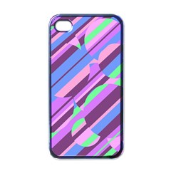 Pink, Purple And Green Pattern Apple Iphone 4 Case (black) by Valentinaart