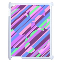 Pink, Purple And Green Pattern Apple Ipad 2 Case (white) by Valentinaart
