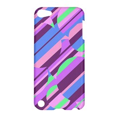 Pink, Purple And Green Pattern Apple Ipod Touch 5 Hardshell Case by Valentinaart