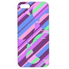 Pink, Purple And Green Pattern Apple Iphone 5 Hardshell Case With Stand by Valentinaart