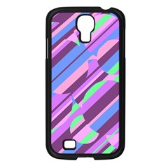 Pink, Purple And Green Pattern Samsung Galaxy S4 I9500/ I9505 Case (black) by Valentinaart