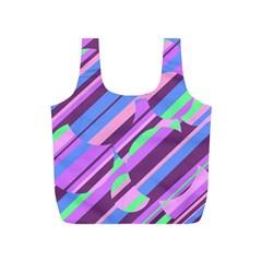 Pink, Purple And Green Pattern Full Print Recycle Bags (s)  by Valentinaart