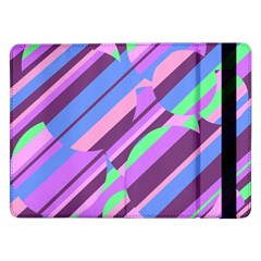Pink, Purple And Green Pattern Samsung Galaxy Tab Pro 12 2  Flip Case by Valentinaart