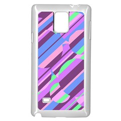 Pink, Purple And Green Pattern Samsung Galaxy Note 4 Case (white) by Valentinaart