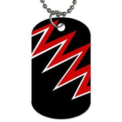 Black And Red Simple Design Dog Tag (two Sides) by Valentinaart