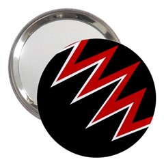 Black And Red Simple Design 3  Handbag Mirrors by Valentinaart
