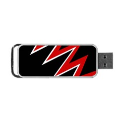 Black And Red Simple Design Portable Usb Flash (one Side) by Valentinaart
